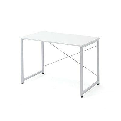 シンプルワークデスク オフィスデスク  幅 奥行  シンプルなホワイト天板  100-deskf003