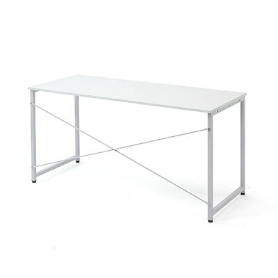 シンプルワークデスク オフィスデスク  幅 奥行  シンプルなホワイト天板 100-deskf005