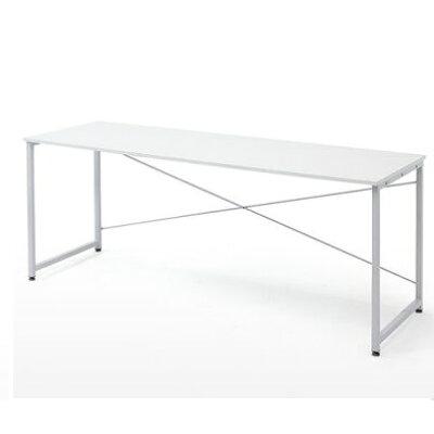 シンプルワークデスク オフィスデスク  幅 奥行  シンプルなホワイト天板 100-deskf007