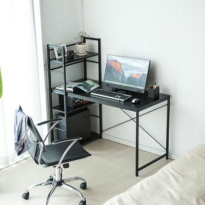 パソコンデスク 収納ラック付 幅  木製 左右 収納棚 100-deskh022