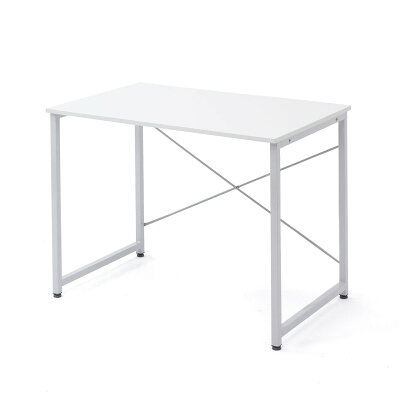 シンプルワークデスク オフィスデスク  幅 奥行  シンプルなホワイト天板 平机 パソコンデスク フリーアドレス 100-deskf012