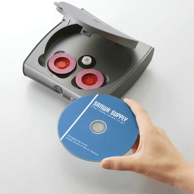 SANWA SUPPLY ディスク自動修復機 研磨タイプ CD-RE2AT
