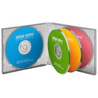 サンワサプライ DVD/CDケース 6枚収納 20mm厚 ブラック FCD-61BKN(3コ入)