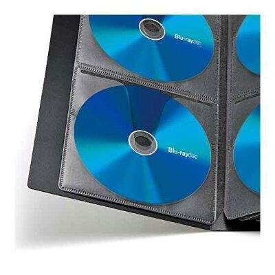 サンワサプライ ブルーレイディスク対応ファイルケース 収納・ブラック FCD-FLBD104BK