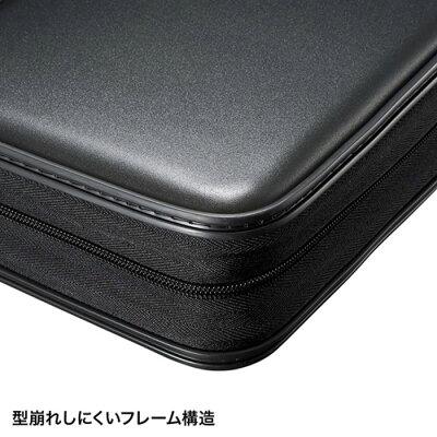 サンワサプライ ブルーレイディスク セミハードケース 160枚収納 ブラック FCD-WLBD160BK