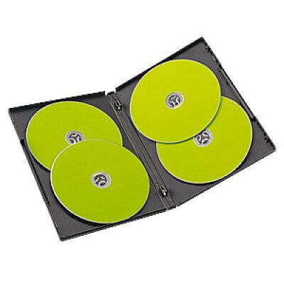 サンワダイレクト DVDケース 4枚収納 トールケース  ブラック 200-FCD034BK