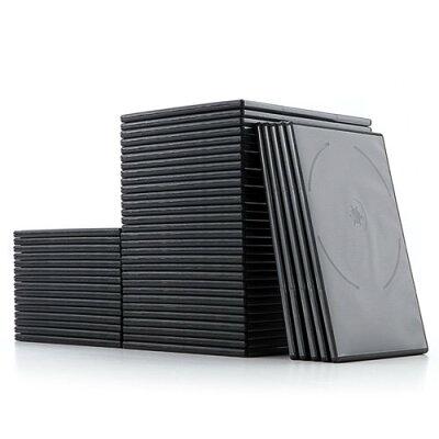 サンワダイレクト dvdケース スリムタイプ  収納 トールケース     ブラック 200-fcd040bk