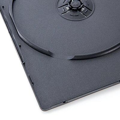 サンワダイレクト DVDケース スリムタイプ 2枚収納 トールケース 50枚 7mm ブラック 200-FCD040BK