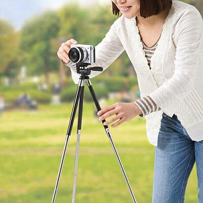 サンワダイレクト 三脚 8段 小型 軽量 394g デジカメ ビデオカメラ 対応 200-CAM022N