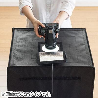 撮影キット LEDライト付8000ルーメン 60×60cm 折りたたみ