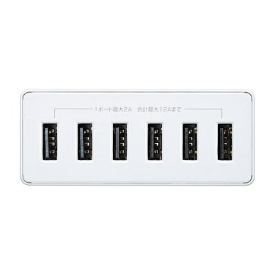 サンワサプライ USB充電器(6ポート) ACA-IP67W