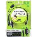 USBヘッドセット MM-HSUSB13BKN(1コ入)