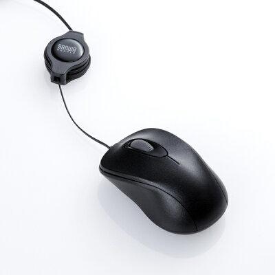 SANWA SUPPLY ケーブル巻取り光学式マウス MA-MA6BK