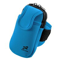 サンワサプライ アームバンドスポーツケース(LL、ブルー) PDA-MP3C10BL