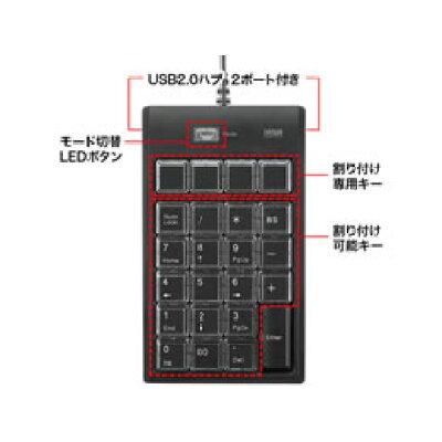 SANWA SUPPLY プログラマブルテンキー NT-19UH2BKN