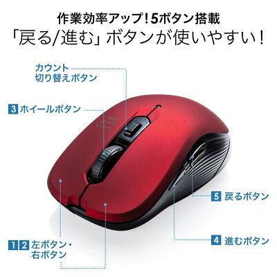 サンワサプライ ワイヤレスマウス 無線タイプ 400-MA097