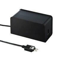 サンワサプライ ケーブル&タップ収納ボックス ブラック CB-BOXP8BK(1コ入)