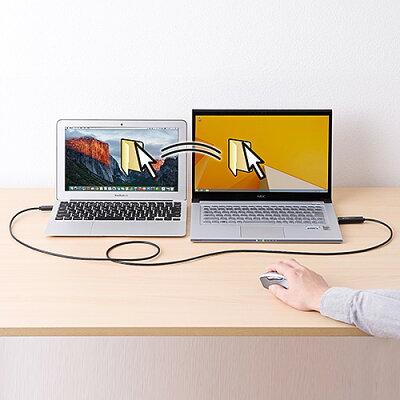 サンワダイレクト USB3.0リンクケーブル Windows/Mac対応 パソコン / タブレット データ移行 ドラッグ&ドロップ 500-USB033
