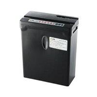 電動シュレッダー(ホッチキス対応・家庭用・クロスカット・A4・小型・6枚細断・ブラック) 400-PSD030