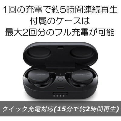 BOSE ワイヤレスイヤフォン SPORT EARBUDS TRIPLE BLACK