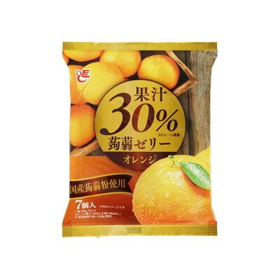 エースベーカリー 果汁30%蒟蒻ゼリー オレンジ 7個