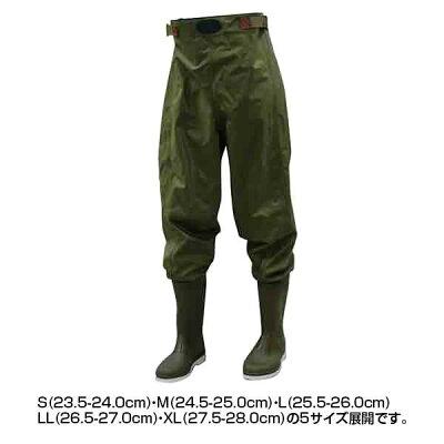 オカモト化成品 胴付長靴 ウェダーウエスト 80234 S 23.5-24.0cm 1363775