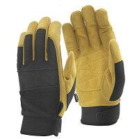 おたふく手袋 4970687005741 FB-53 FUBAR マイクロファイバーグローブ ストロングモデル ブラック×キャメル M