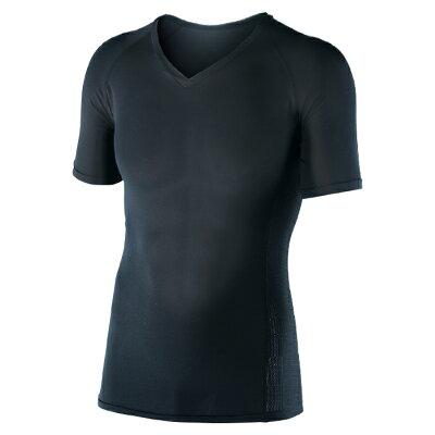 ボディータフネス 冷感パワーストレッチ 半袖Vネックシャツ JW622 ブラック L(1枚入)