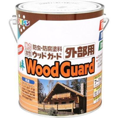 アサヒペン 油性ウッドガード外部用 ゴールデンオーク(1.6L)