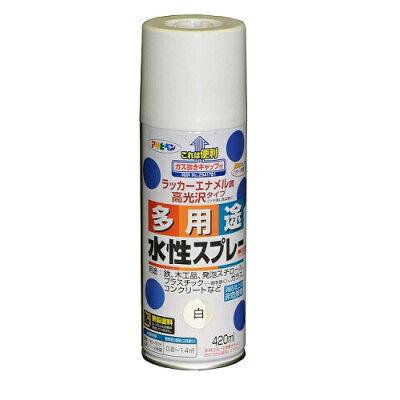 アサヒペン 水性多用途スプレー シロ(420ml)
