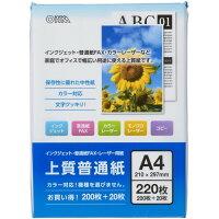 オーム 上質普通紙 A4 01-0736(220枚入)