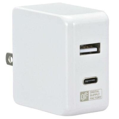 OHM ACアダプター USB Type-C+Type-A MAV-APCA34