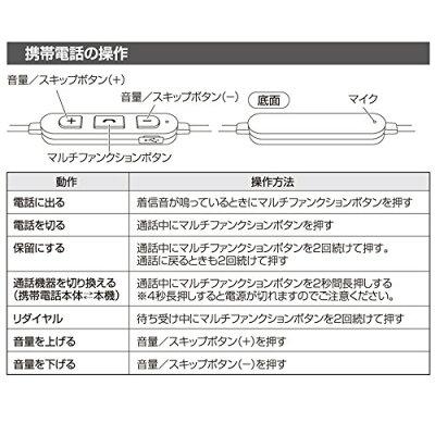 OHM Bluetoothワイヤレスステレオイヤホン HP-W200N-K