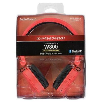 OHM ワイヤレスヘッドホン HP-W300N-R