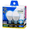 OHM LED電球 ミニクリプトン形 E17 25形相当 2W 昼光色 広配光200° 密閉器具/断熱材施工器具 2個入 LDA2D-G-E17IH9-2P 06-0778 オーム電機