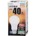 LED電球 一般電球形 40形相当 E26 電球色 06-1733 LDA4L-GAG5(1コ入)
