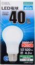オーム電機 LED電球 一般電球形 40形相当 E26 昼白色 06-1734