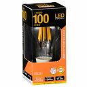LED電球 フィラメント 一般電球形 E26 100形相当 12W 電球色 全方向 LDA12L C6 06-3464