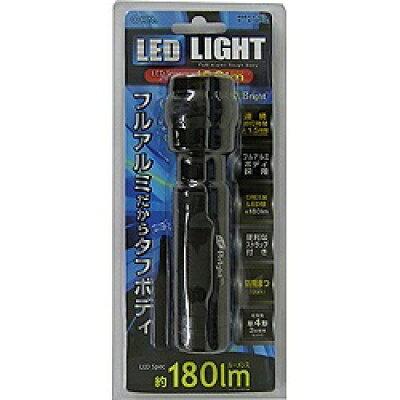 オーム電機 OHM LEDライト OSG18K ブラック