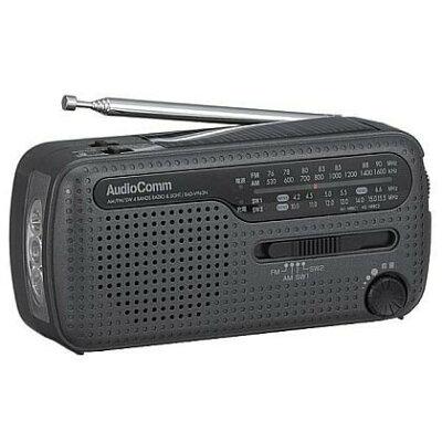 OHM AM FM SW手回し発電ラジオライト RAD-V963N