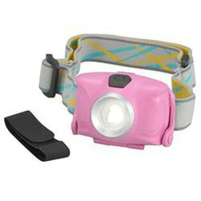 リュックバンド付 LEDヘッドライト 単4形*3本使用 ピンク LED-YH9-P(1コ入)