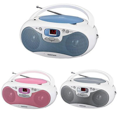 OHM AudioComm CDラジオ ワイドFM対応 RCR-530N-P
