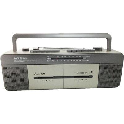 OHM AudioComm AM/FM ステレオ ダブル ラジカセ RCS-W877M