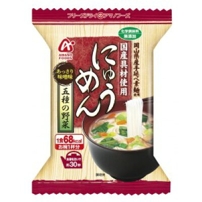 アマノフーズ にゅうめん 5種の野菜 あっさり味噌味(18.5g*1食入)