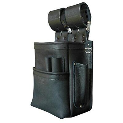 KNICKS ニックス KB-201SPDX 自在型チェーンタイプ総グローブ革2段腰袋 ブラック