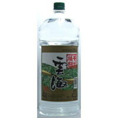 雲海酒造 25°雲海 そば焼酎 4Lペット