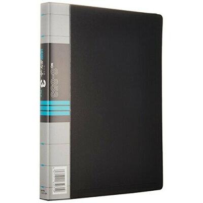 コレクト 透明ポケット3ファイル 黒 B5L S-853-BK クロ
