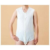 コベス ワンタッチ肌着 前開き袖なしボディシャツ 紳士 婦人用 Sサイズ オフホワイト