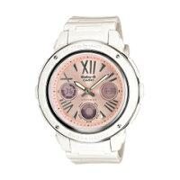 【CASIO Baby-G】 逆輸入海外モデル レディースアナデジ腕時計 ローズゴールドダイアル ホワイトウレタンベルト BGA-152-7B2DR