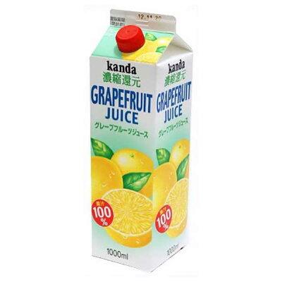 神田食品研究所 グレープフルーツジュース100% 紙 1L
